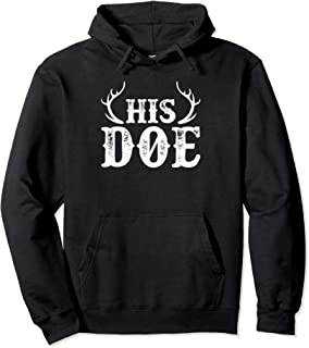 His Doe Her Buck Couples Cute Country Southern Pullover Hoodie
