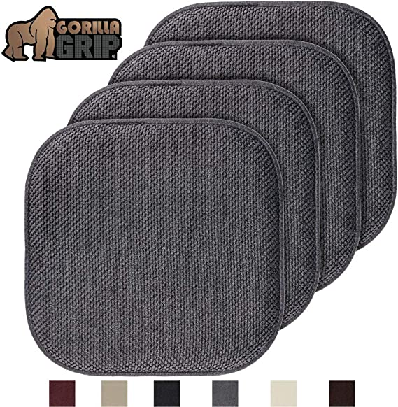 Gorilla Grip Original Premium Memory Foam Chair Cushions