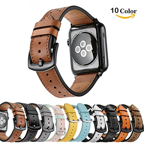 ea0f6c31332 Chok Idea Leather Watchband Compatible With Apple Watch Strap 42mm  44mm