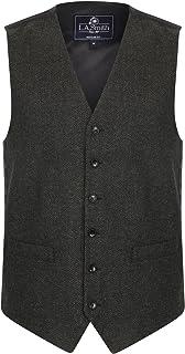 Lloyd Attree & Smith Classic Grey Herringbone Tweed Waistcoat