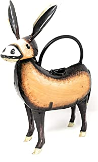 Skwiggles Donkey Mexican Decor Small Metal Watering Can for Outdoor/Indoor Use on House Plants or Garden - Decorative and Functional Design Handcrafted and Painted by Metal Artisans (Diego Donkey)