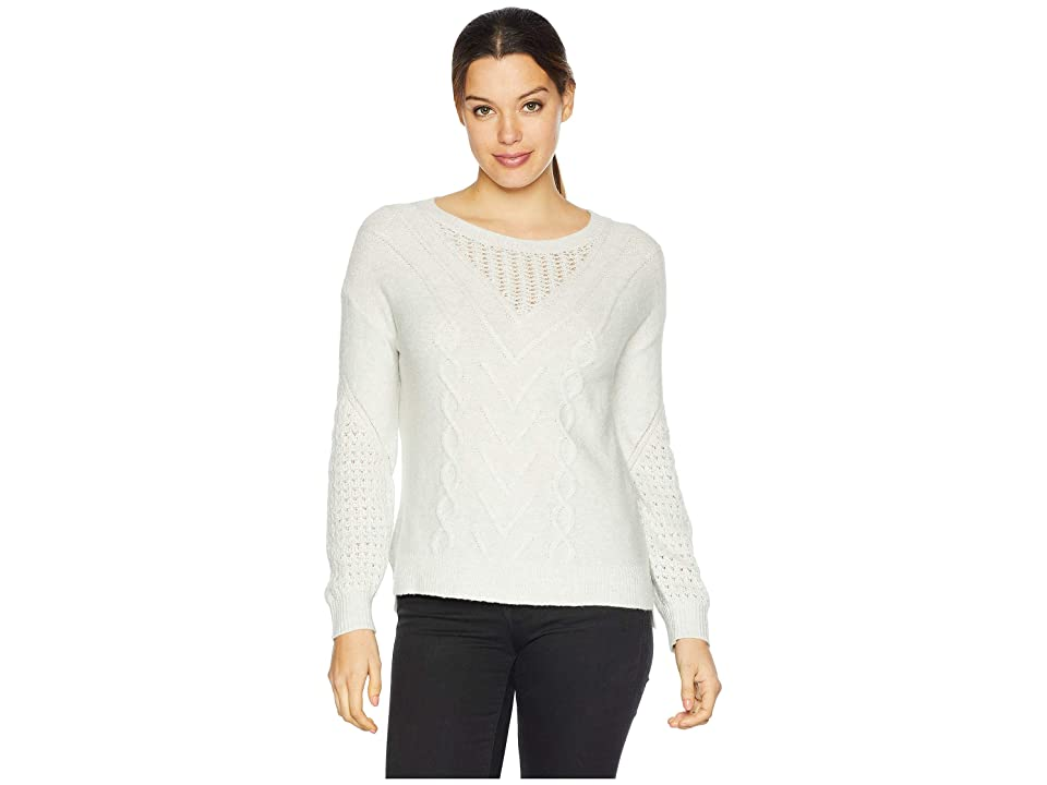 Lucky Brand Cable Knit Sweater (Light Grey) Women