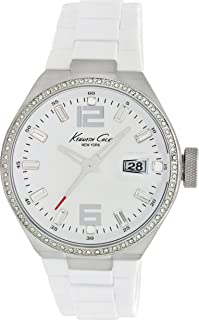 Kenneth Cole New York Women's Japanese Quartz Stainless Steel Case Silicone White,(Model:KC4811)