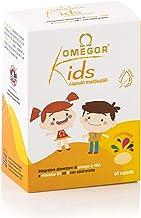 OMEGOR® Kids cápsulas para niños | 250 mg de omega-3 DHA | Exquisitas cápsulas blandas, en gelatina de pescado, endulzadas y masticables | Prueba todas las frutas, 60 cps.