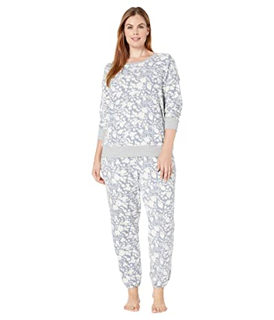 Splendid Plus Size Brushed Jersey Long Sleeve PJ Set (Autumn Bloom) Women