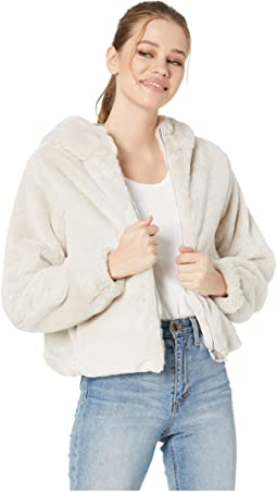 Luv The Nightlife Faux Fur Hoodie Jacket
