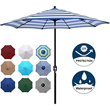 Automatic Opening and Closing,Smiling Sun Character with Hello Summer Text,Windproof Men 42 Inches Rainproof Ladies 10 Ribs RLDSESS Sun Compact Patio Umbrella