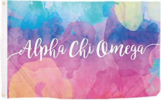 Alpha Chi Omega Water Color Sorority Flag Greek Letter Use as a Banner Large 3 x 5 Feet Sign Decor AXO