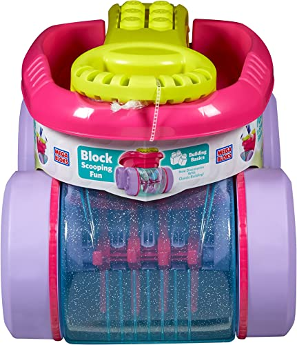 Mattel Mega Bloks First Builders CNK33 - Block Picker Rosa, Bau- und Konstruktionsspielzeug