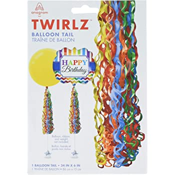 NEW  Themed  Party Twirlz Medium Pink Balloons Tails