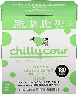 Chilly Cow Mint Dark Chocolate Chip Light Ice Cream, 16 fl oz (frozen)