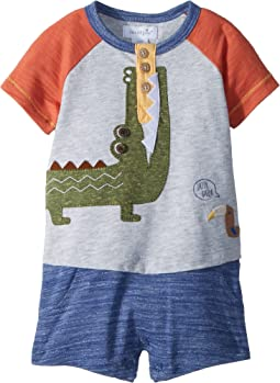 Alligator Raglan One-Piece Outfit (Infant)