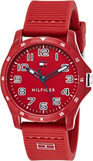 Tommy Hilfiger men's Red Dial Red Silicone Watch - 1791690