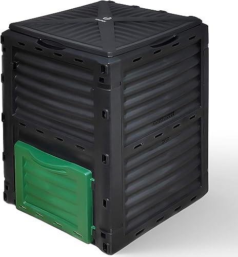 VOUNOT Composteur de Jardin 300L Qualité Supérieure Bac Composteur pour Jardin Déchets Bac à Composte en Polypropylèn...