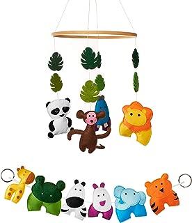Jungle Animals Crib Mobile and Nursery Decor Set