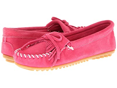 Minnetonka Kilty Suede Moc (Hot Pink Suede) Women