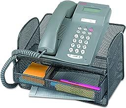 Safco 2160BL Onyx Angled Mesh Steel Telephone Stand, 11 3/4 x 9 1/4 x 7, Black