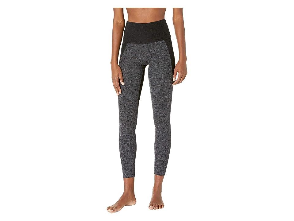 Beyond Yoga Spacedye Off Duty High-Waisted Long Leggings (Black/Charcoal Color Block) Women
