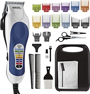Wahl Corded Clipper Color Pro Complete Hair Cutting Kit for Men, Women, & Children with Colored Guide Combs for Smooth, Ea...