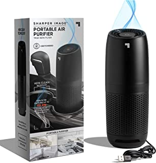 SHARPER IMAGE Portable Air Purifier with True HEPA Air Filter, Quiet Odor Elimination, Removes 99.97% of Smoke Dust Mold P...