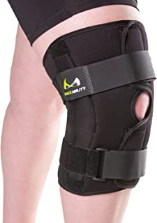 BraceAbility XL Hinged Knee Brace | Extra Large Knee Support Wrap for Meniscus Tears, Arthritis Joint Pain, Medial & Lateral Ligament Sprains, ACL/LCL Injuries (XL)