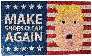 Puckator Door Mat/Doormat - The President - 'Make Shoes Clean Again'- Fun Doormat USA America President Donald Trump