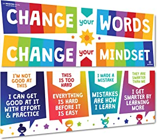 Sproutbrite Growth Mindset Classroom Decorations - Banner Posters for Teachers - Bulletin Board and Wall Decor for Pre Sch...