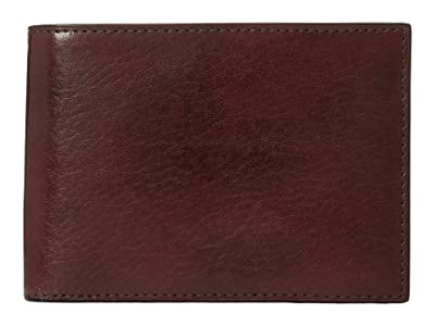 Bosca Old Leather Collection Credit Wallet w/ ID Passcase (Dark Brown Leather) Bi-fold Wallet