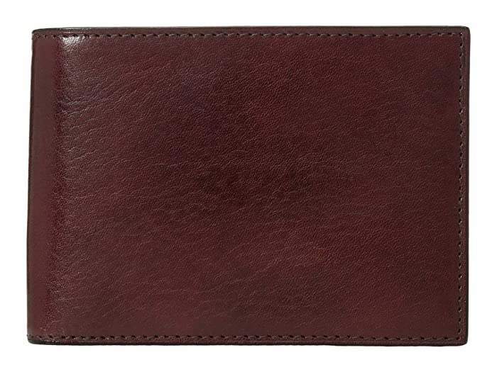 Bosca  Old Leather Collection - Credit Wallet with ID Passcase (Dark Brown Leather) Bi-fold Wallet