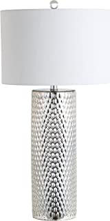 JONATHAN Y JYL1013A Table Lamp, 15  x 15  x 30 , Silver with White Shade