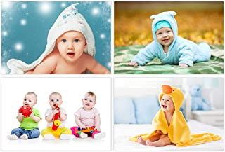 Art Amori Set of 4 Cute Baby Combo Wall Paper Posters | Smiling Baby Poster | Poster for Pregnant Women | HD Baby Wall Pos...