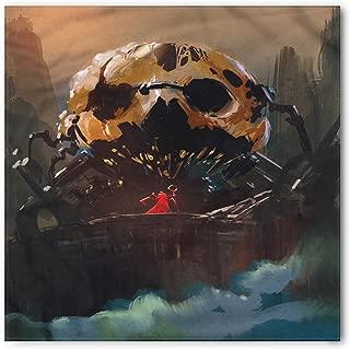 Fantasy Bandana, Wizard Villain and Skull, Unisex Head and Neck Tie