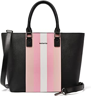 BOSTANTEN Leder Handtasche Damen Schultertasche Shopper Tasche Frauen Henkeltasche Designer Umhängetasche Rosa