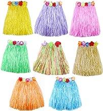 JZK 8 Mehrfarbig Hawaii - Rock Hawaii Party Kostüm Set Hula Rock, Mädchen Frauen Zubehör für Hula Luau Party