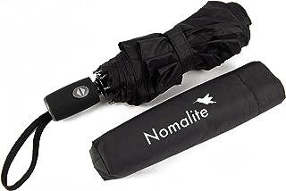 Parapluie de Poche incassable par Nomalite | Parapluie Noir Pliant Homme/Femme Compact à Ouverture Automatique en Fibre de...