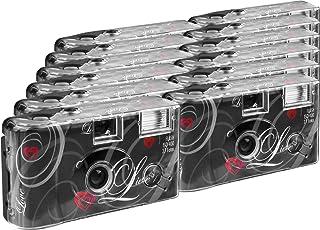 TopShot Love black Wegwerp Camera/Bruiloft Camera (27 foto's, Flash, Pack van 12)