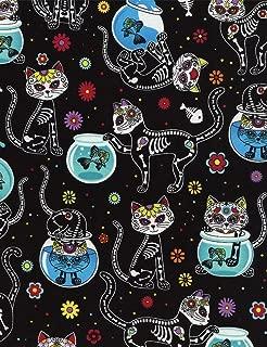 Best sugar skull fabric panel Reviews