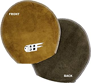 bowlingballfactory.com Bowling Ball Deluxe Double-Sided Brown Shammy Pad Ball Cleaner Mitt