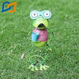 Solar Lighting Garden Decoration Metal Art Outdoor Decoration Animal Frog Lawn Decoration