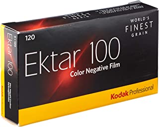 KODAK 831 4098 Ektar 100 Professional ISO 100, 120mm, Color Negative Film (5 Roll per Pack) Yellow