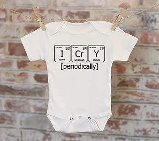 I Cry Periodically Chemistry Onesie®, Nerdy Onesie, Science Onesie, Chemistry Onesie, Boho Baby Onesie, Funny Onesie