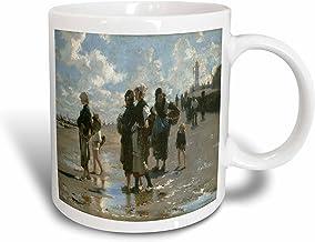 3dRose Oyster Gatherers At Cancale by John Singer Sargent Mug, 15 oz, cerámica, 11,43 x 8,45 x 12,7 cm