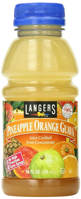 Langers Juice Cocktail Guava, pineapple orange 120 Fl Oz (Pack of 12)
