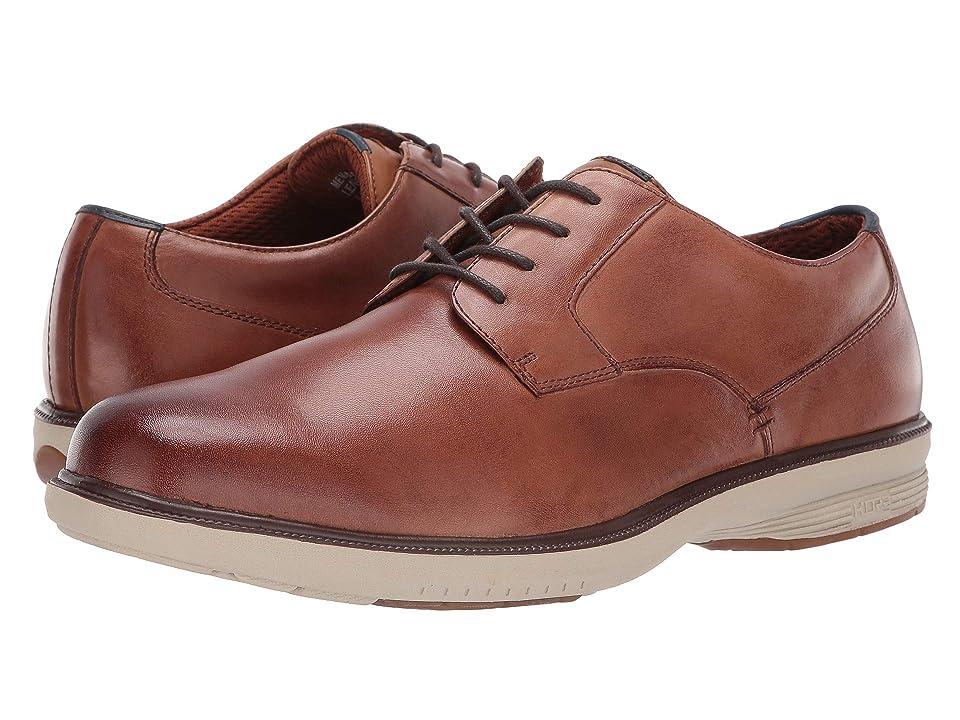 Nunn Bush Marvin Street Plain Toe Oxford with KORE Slip Resistant Walking Comfort Technology (Camel Multi) Men