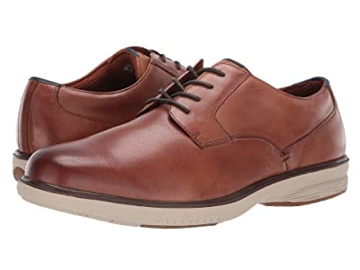 Nunn Bush Marvin Street Plain Toe Oxford with KORE Slip Resistant Walking Comfort Technology (Camel Multi) Men