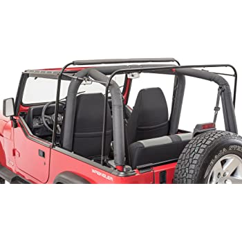 MasterTop Soft Top Hardware Kit Fits 1987-1995 Jeep YJ Wrangler vehicles with Soft Upper Doors Includes Bows, W/S Channel, tailgatebar & Door surrounds Metal door frames not included 15433101