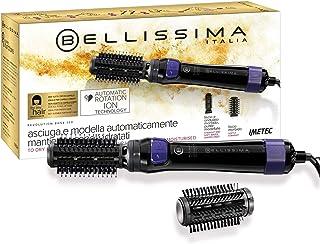 Bellissima Imetec Revolution BHS4 100 Cepillo de Aire Modelador, 2 Cepillos de 40 y 50 mm, Sentido de Rotación Doble, Tecnología de Iones, Potencia 1000 W, Revestimiento de Cerámica, Negro y Violeta
