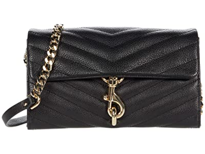 Rebecca Minkoff Edie Wallet On Chain (Black 1) Handbags