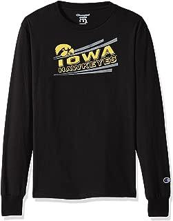 Champion NCAA Iowa Hawkeyes Youth Boys Long Sleeve Jersey Tee, Medium, Black