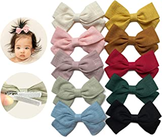 Baby Girl Hair Clips, Bows Barrettes Fully Lined Alligator Clip Hair Accessories for Infants Toddler Little Girls Children...